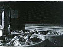 Smithfield Market, 1990's. Sheep Heads