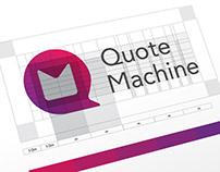 Quote Machine Brand Design