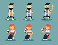Plugme - Diseño de personajes y escenarios