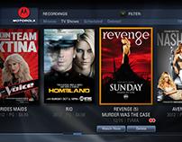 Motorola Interactive Television UI Design