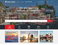 Travel Nation Website Redesign