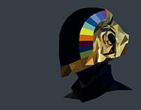 Guy-Manuel de Homem-Christo (Daft Punk) - Low Poly art