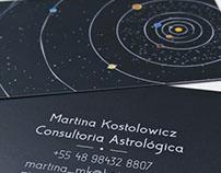 Astróloga - Cartão de visita