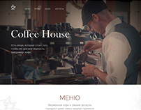 The website for coffee shop