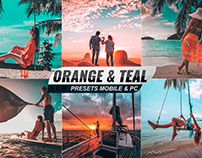 Orange and teal Photo Effects