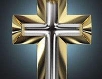 Double gold Cross