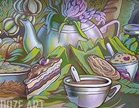 mural in cafe