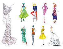 "Fashion Illustration ""Savage Beauty"""