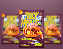 No Trick Just Treats Flyer Template