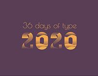 36 days of type / 2020
