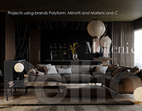 Projects using Poliform, Minotti and Molteni and C