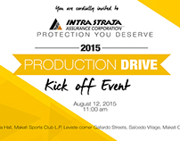 Intrastrata production drive graphic design