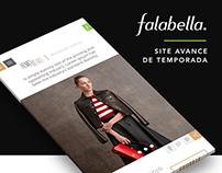 FALABELLA - SITE AVANCE DE TEMPORADA