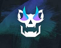 Flaming skull (gaming logo)