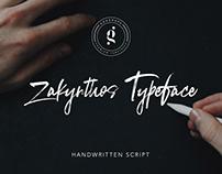 Zakynthos Handwritten Typeface Script