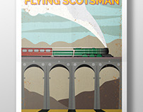 Flying Scotsman illustration