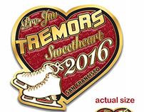 Tremors Sync Ice Skating Team Trading Pins