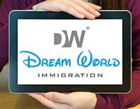Dream World Immigration Logo Design