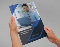 Company Brochure Bi-Fold Template Vol.39