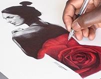 Fan Art/ Yasmin Pen Drawing