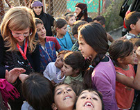 Progressive political forces visit Syrian refugee camps