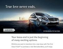 Mercedes-Benz lease-end program digital banners/email