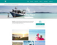 Longlastingtrip Homepage UI Design