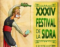 Ilustración y cartel para Festival de Sidra