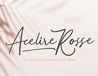 Acelire Rosse - Script Font