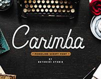 CARIMBA - FREE VINTAGE MONOLINE SCRIPT