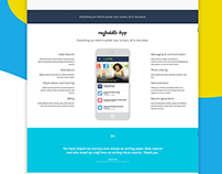 Mobile Parenting Mobile App - Landing Page