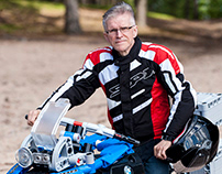 A Portrait of a Motorcyclist