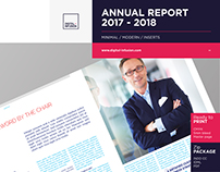 Annual Report Template with Inserts