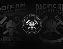Pacific Rim Contractors Patch Logo & T-shirt Design