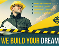 Construction Postcard Template Vol.2