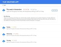 Weather app design for a Vue.js course