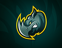 Rhyno Mascot Logo for e-sports