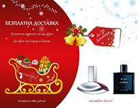 Parfumi shop Christmas Banner Design