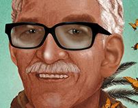 Retrato de Gabriel García Márquez.