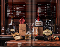 Menu design for restaurant. Food photo, bar menu
