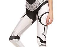 Storm Trooper Inspired Leggings & Croptop