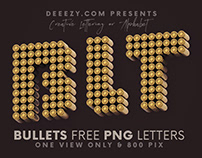 Bullets - Free 3D Lettering