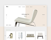 Furniture Online Store Concept