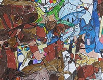 realistic animal cubism drawing