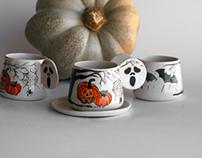 Halloween 🎃 Türk kahvesi fincanları