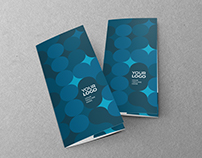 Blue Circles Pattern Trifold
