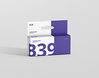Box Mockup - Wide Small Rectangle with Hanger
