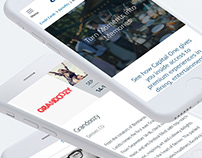 Capital One - Access Landing Page Design