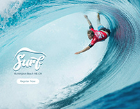 water surfing event page