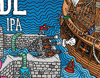 Southsea Brewing Co - High Tide Label Art